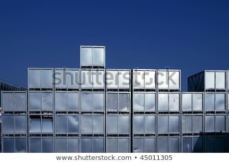 magazijn · veel · veelkleurig · vrachtwagens · top - stockfoto © lunamarina