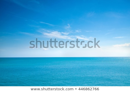 blue sea horizon ocean perfect in calm stock photo © lunamarina