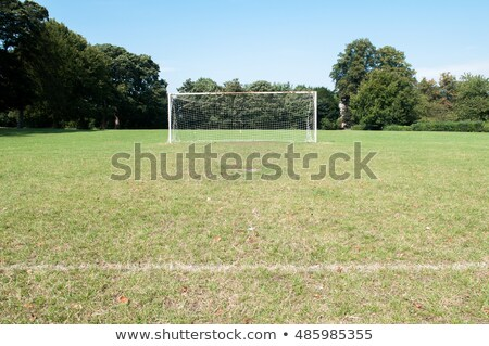 Park soccer football pitch goal posts and net. Stock photo © latent