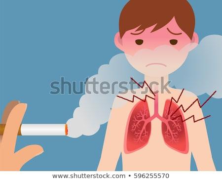 Gefährlicher Rauch Foto Montage menschlichen Schädel Stock foto © Stocksnapper