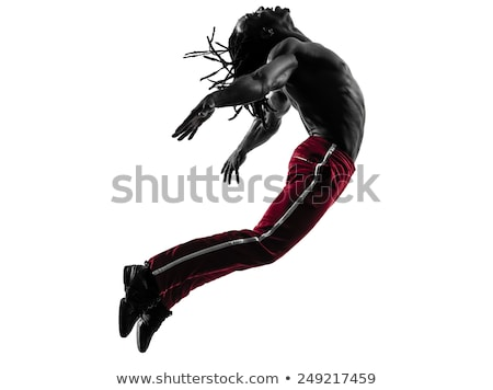 jumping and flying people silhouettes Stock photo © ojal