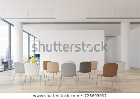 Krzesło wnętrza hiszpanski klasyczny ściany Zdjęcia stock © ABBPhoto