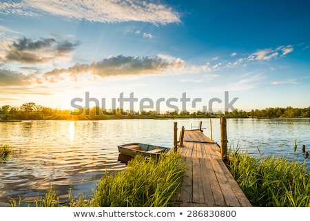 Jetty at lake in the morning Stock photo © w20er
