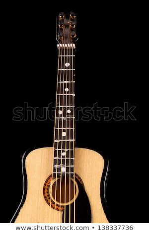 Music concept. guitar crop under beam of light Stock photo © pxhidalgo