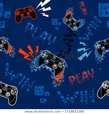 компьютер джойстик компьютерная игра черный технологий клавиатура Сток-фото © mayboro