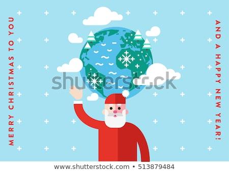 santa with earth globe stock photo © kirill_m