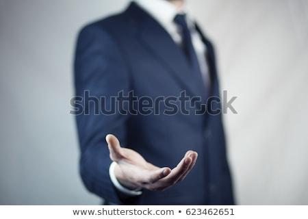 üzletember kéz üzlet férfi üzletember pálma Stock fotó © oly5