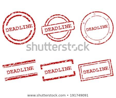 Photo stock: Date · limite · vecteur · résumé · imprimer · tampon