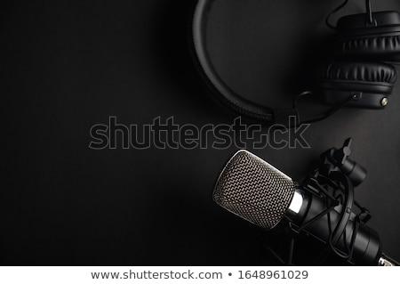 mikrofon · közelkép · szexi · háttér · retro · stúdió - stock fotó © jackethead