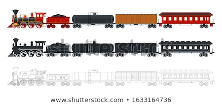 Vector train set Stock photo © vectorpro