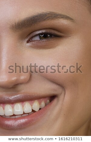 Extreme makeup. Beautiful half face Stock photo © Geribody