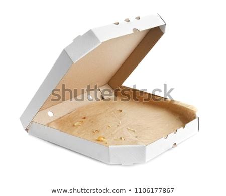 pizza · karton · pizza · kutusu · dilimleri · kâğıt · gıda - stok fotoğraf © homydesign