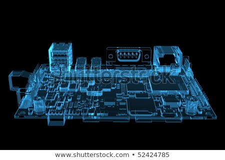 Alaplap röntgen render izolált fehér absztrakt Stock fotó © cherezoff