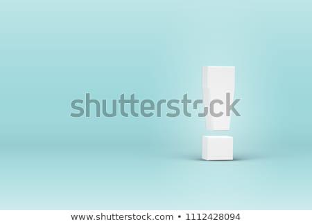Vektör 3D ünlem işareti ikon beyaz Internet Stok fotoğraf © nickylarson974