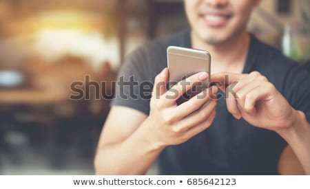 Smartphone applications internet bleu mobiles écran Photo stock © designers