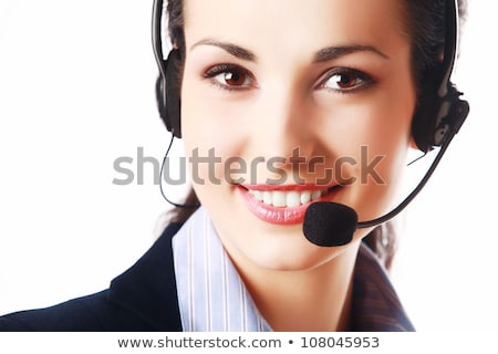 Stock photo: Business woman hot line