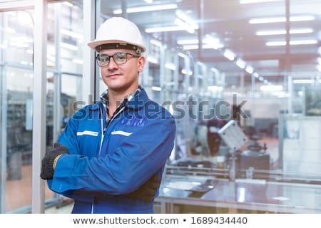 Stock photo: Portrait Of Manager And Staff In Engineering Factory