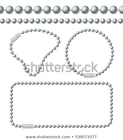 Labda lánc fehér absztrakt fém törvény Stock fotó © Alexstar