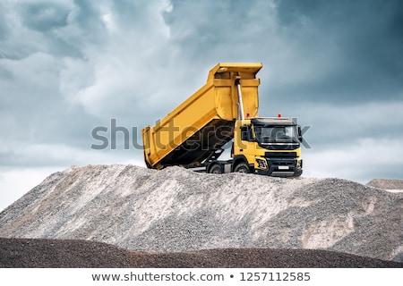 Teherautó homok hatalmas hidraulikus tájkép szállítás Stock fotó © fouroaks