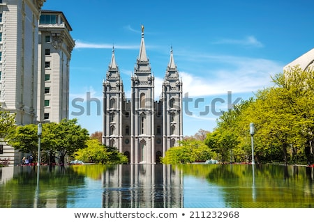 mormons temple in salt lake city ut stock photo © andreykr