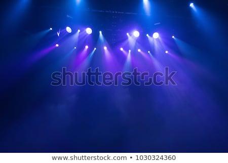 színpad · fények · kép · világítás · effektek · stadion - stock fotó © magann