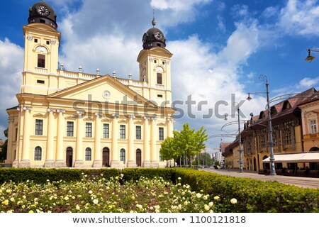красочный · центр · небе · город · синий - Сток-фото © joyr