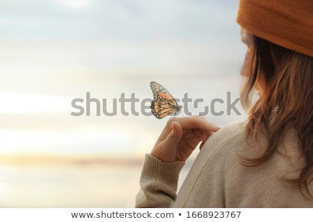 butterfly woman stock photo © tawng