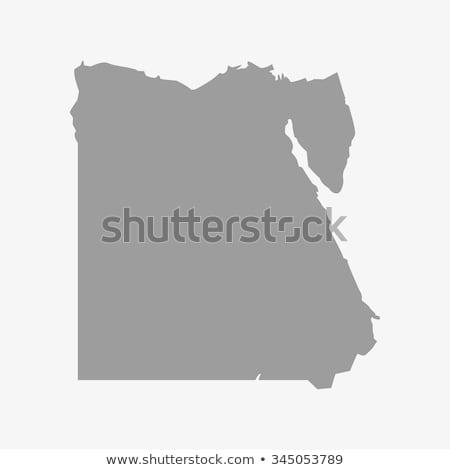 silhouette map of Egypt Stock photo © mayboro