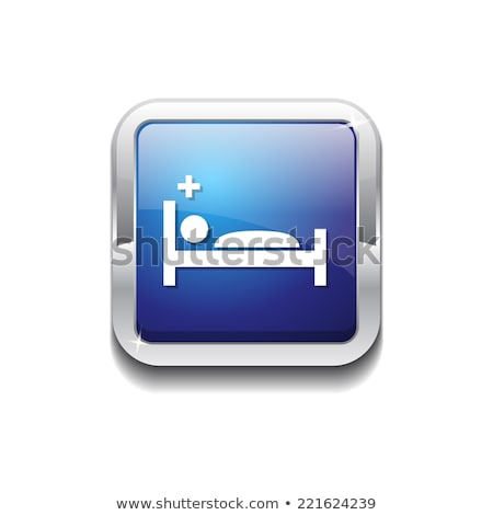 Heath Care Bed Blue Vector Icon Button Stock photo © rizwanali3d