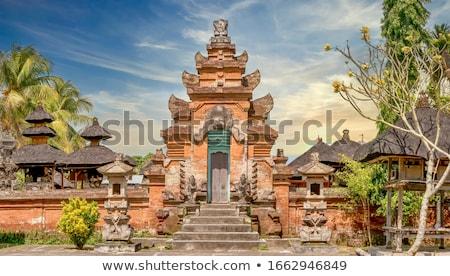 Tipik çatılar tapınak bali küçük Endonezya Stok fotoğraf © dinozzaver