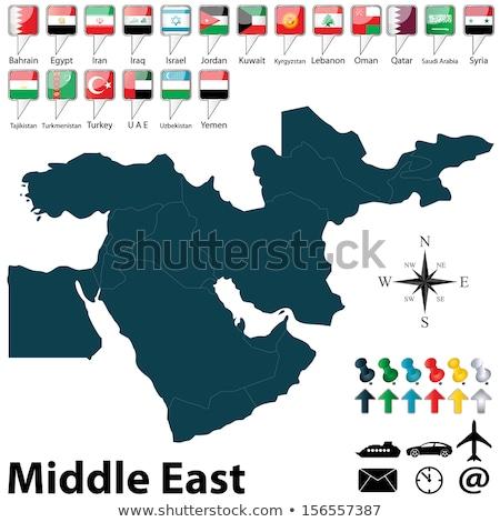 Térkép zászló gomb Irán vektor kép Stock fotó © Istanbul2009