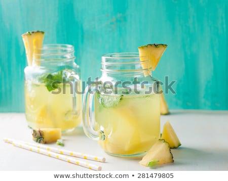 homemade lemonade with pineapple stock photo © barbaraneveu