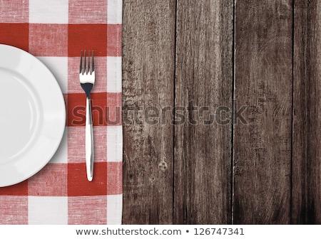 древесины металл деревянный стол старые кухонная техника Сток-фото © justinb