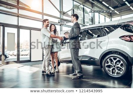 покупке автомобилей стороны небе фон Palm Сток-фото © fantazista