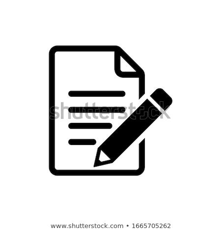 Notepad kalem örnek metin maske mavi Stok fotoğraf © boroda