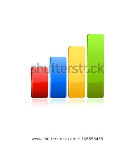 Wykres bar wzrost obraz świadczonych Zdjęcia stock © tang90246
