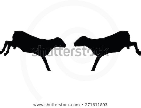 sheep silhouette with jumping pose Stock photo © Istanbul2009