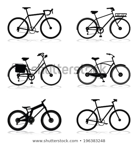 The black silhouette of a bicycle Stock photo © orensila