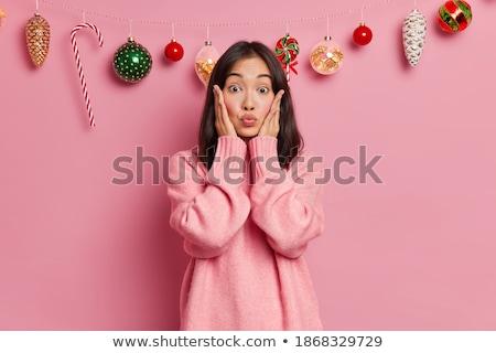 サンタクロース · 意外 · 女の子 · 母親 · ホーム · 女性 - ストックフォト © wavebreak_media