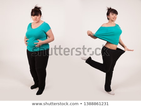 Before and After diet 2 Stock photo © Vg