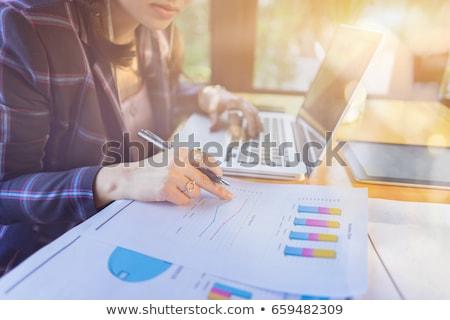 Stock photo: Financial report write on folder