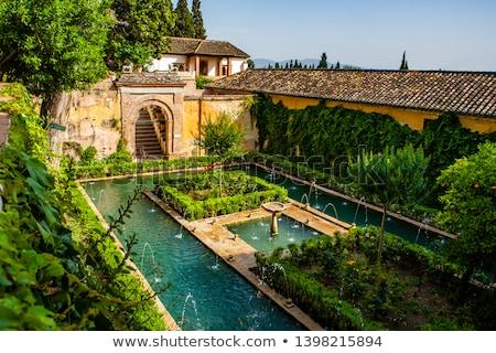 Stok fotoğraf: çeşme · alhambra · saray · İspanya · mimari