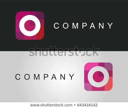 purple green letter o logo design vector stock photo © blaskorizov