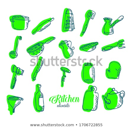 carafe icon drawn in chalk stock photo © rastudio