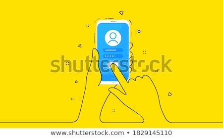 user yellow vector icon button stock photo © rizwanali3d