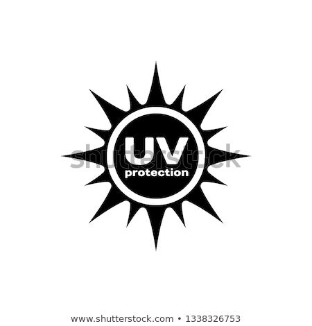 защищенный фиолетовый вектора икона дизайна службе Сток-фото © rizwanali3d