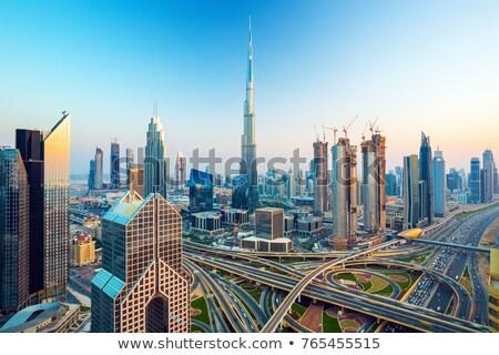 Дубай Skyline Объединенные Арабские Эмираты пустыне город небе Сток-фото © H2O