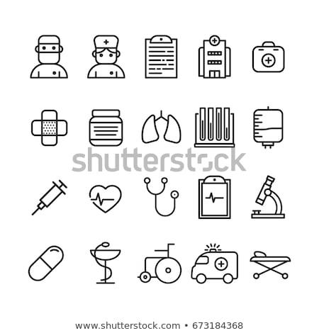 Medic icon vector illustration Stock photo © LittleCuckoo