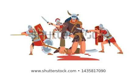 Romaine guerrier épée homme blanche studio Photo stock © Elnur