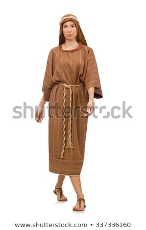 vrouw · hoofddoek · mode · haren · schoonheid - stockfoto © elnur